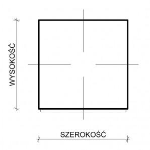Uszczelka samoprzylepna kwadratowa - wymiary