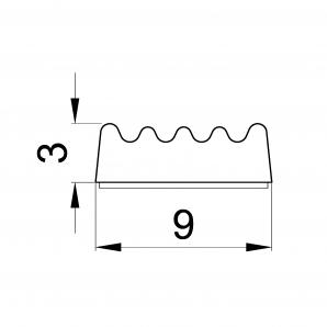 Wymiary 3 x 9 mm