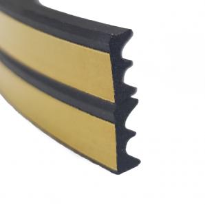 Uszczelka samoprzylepna do okien i drzwi profil E czarna - przekrój