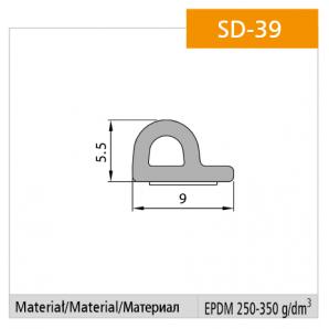 Uszczelka SD-39 wymiary
