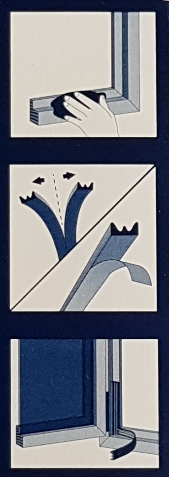 Instrukcja montażu uszczelki samoprzylepnej profil E Stomil Sanok